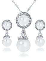 redondas de imitación de la perla collar de diamantes de imitación ojos del ángel de la joyería de la boda