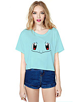 geinspireerd door Pocket Monster PIKA PIKA Anime Cosplay Kostuums Cosplay Tops / Bottoms Print  Blauw Korte mouw Top