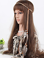 Women's Bohemia Simple Feather Beads Weave Headbands 1 Piece