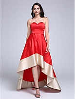 TS Couture® Formal Evening Dress A-line Sweetheart Asymmetrical Stretch Satin with