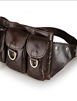 Men-Formal-PVC-Waist Bag-Brown