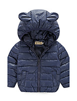Girl's Casual/Daily Solid Down & Cotton Padded,Cotton / Polyester Winter / Fall Blue / Orange / Red / Yellow