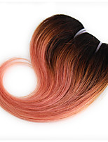 Body Wave 1 Bundles 1B/Pink Ombre Color Brazilian Body Wave Hair 100% Human Hair Weaves.