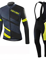 KEIYUEM®Others Spring/Summer/Autumn Long Sleeve Cycling Jersey+Bib Tights Ropa Ciclismo Cycling Clothing Suits #L26