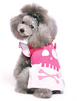 Cat / Dog Costume Pink Summer / Spring/Fall Skulls Halloween, Dog Clothes / Dog Clothing
