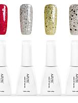 12ml Azure Summer Color Nail Polish 4PCS Soak off UV Gel Nails Art Decoration NO.5