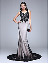 TS Couture® Formal Evening Dress Trumpet / Mermaid Queen Anne Court Train Lace / Tulle with Appliques