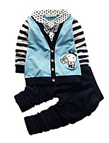 Boy's Casual/Daily Print Clothing Set,Cotton Fall Blue / Orange / Purple