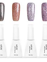 12ml Azure Summer Color 4PCS Nail Polish Soak off UV Gel Nails Art Decoration NO.6