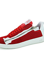 Men's Shoes PU Casual Sneakers Casual Sneaker Flat Heel Others Black / Blue / Red / White