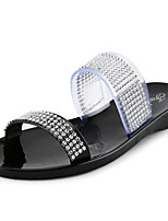Women's Shoes PVC Spring / Summer / Fall Jelly Flats Casual Flat Heel Crystal