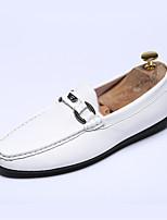 CEYUE Men's Shoes Leatherette Casual Walking Flat Heel Slip-on Black / White EU39-43
