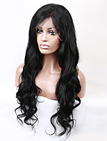 20-28 Inch Indian Virgin Human Hair Natural Black Color U Part Front Lace Wig Body Wave Lace Wig With Baby Hair