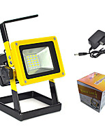 24 LED Rechargeable Flood Light/Flashlight 30W 800 Lumens 18650 Battery/Portable Spot Work Lamp/Camping/Fishing/Caving