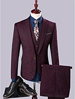 Burgundy T/R Slim Fit Three-Piece Suit