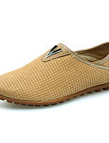 Men's Shoes Casual Fabric Loafers Brown / Yellow / Khaki
