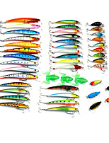 45pcs Fishing Bait Random Colors