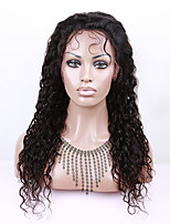 Eva wigs Indian human virgin hair  lace front wig heavy density natural color water wave lace wigs for black women