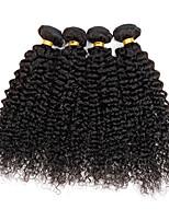 4 pezzi Kinky Curly Tessiture capelli umani Brasiliano Tessiture capelli umani Kinky Curly