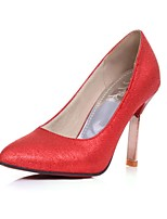 Women's Shoes Synthetic Summer/Pointed Toe Heels Office & Career/Casual Stiletto Heel Sequin Green/Red/Silver/Gold
