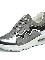 Da donna-Sneakers-Casual-Punta arrotondata-Piatto-Tulle-Viola / Argento
