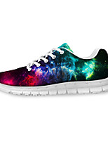 Men's Shoes Leather / Tulle Athletic / Casual Sneakers Athletic / Casual Sneaker Low Heel Lace-up Multi-color