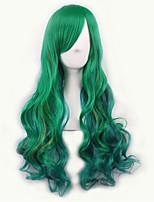 / Lolita verde amarelo ombre peruca pelucas Pelô perucas sintéticas naturais resistente ao calor perucas perruque cosplay peruca
