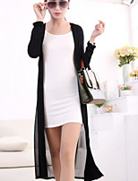 Women's Party/Cocktail Street chic Trench Coat,Solid Halter Long Sleeve Summer White / Beige / Black Acrylic Translucent