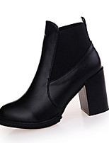 Women's Boots Winter Fashion Boots PU Casual Chunky Heel Others Black / Burgundy Others