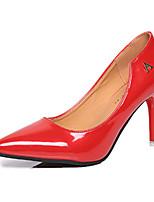 Homme-Décontracté-Rouge / Argent / Gris-Talon Aiguille-Talons-Chaussures à Talons-Cuir Verni
