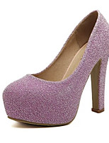 Women's Heels Summer Heels Glitter Casual Chunky Heel Sequin Black / Purple / Silver Others