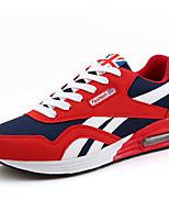 Zapatos Running Ante Negro / Azul / Rojo Hombre