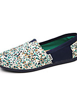 Women's Flats Summer Round Toe Canvas Casual Flat Heel Flower / Others Green / Red