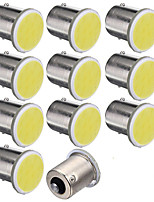 10pcs 1156 12smd cob branco bulbos cor do carro reboque rv caminhão styling luz de estacionamento auto levou lâmpada do carro 12v