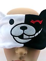 Dangan Ronpa-Monokuma-Branco- deVeludo Cotelê-Máscara