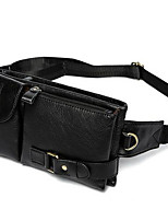 Men-Formal-PVC-Waist Bag-Brown / Black