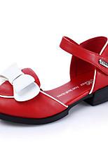 Girls' Shoes Outdoor / Dress Patent Leather Heels Spring / Summer / Fall Comfort Chunky Heel Hook & Loop