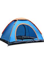 Tenda-Impermeabile / Traspirabilità / Anti-vento / Ultra leggero (UL)-3-4 persone-Verde / Blu