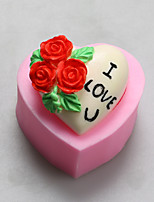 Valentine Rose Love You Chocolate Silicone Molds,Cake Molds,Soap Molds,Decoration Tools Bakeware