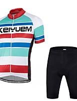 KEIYUEM Radsport Kleidungs-Sets/Anzüge / Trikot Unisex FahhradAtmungsaktiv / Rasche Trocknung / Staubdicht / tragbar / Videokompression /