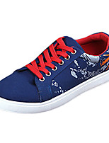 Men's Spring / Fall Comfort Fabric Outdoor / Casual Flat Heel Black / Blue / Red / Beige Sneaker