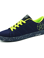 Men's Shoes Fleece / Fabric Casual Sneakers / Flats Casual Walking Flat Heel Others / Lace-up Blue / Red