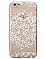Para Funda iPhone 6 / Funda iPhone 6 Plus Transparente / Diseños Funda Cubierta Trasera Funda Mandala Dura PolicarbonatoiPhone 7 Plus /