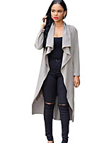 Women's Solid Fashion All Match Slim Trench Coat,Simple / Street chic Long Sleeve