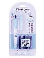 Bolígrafo Plumas de gel,Plástico Negro