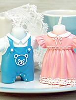 Fashion Creative Baby Cloth Style Candles Holiday Romantic Home Decoration Party Birthday(1pc)