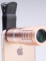 universelle lentille 10 × télescope pour les téléphones mobiles iPhone / samsung argent / or / rose / noir
