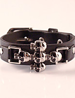 Harley Motorcycles Punk Skull Men Bracelets Wide Retro Cowboy Leather Bracelet