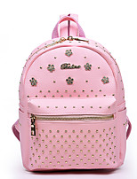 Women-Sports / Casual / Outdoor / Shopping-PU-Backpack-White / Pink / Silver / Black