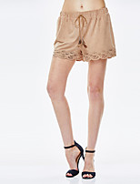 Heart Soul® Women's Mid Rise Shorts Brown Casual Pants-11AA38452